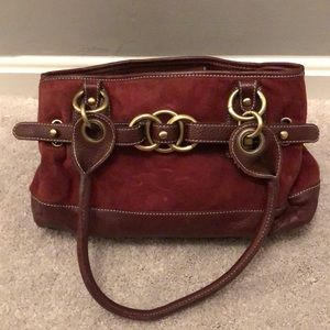 Wilson's leather and suede purse
